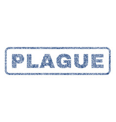 Plague textile stamp vector
