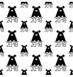 Seamless pattern with abstract dog as symbol 2018 vector