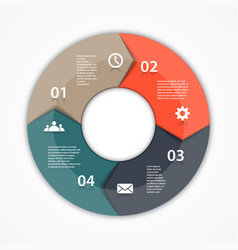 Circle arrows infographic template for diagram vector