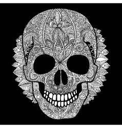 White skull day of the dead vector