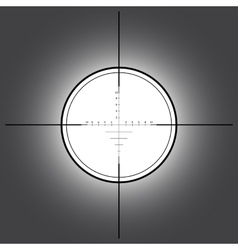 Sniper scope over black background vector