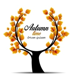autumn tree vector image vector image