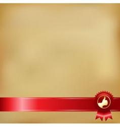 award ribbons vector image vector image