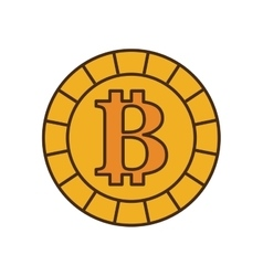 bit coin isolated icon vector image