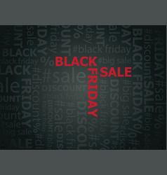 Black friday sale words vector