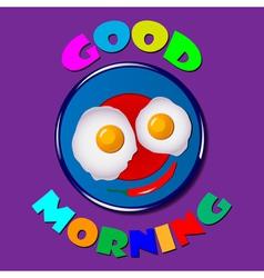 Comic scrambled eggs vector