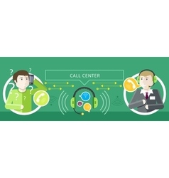Concept of call centre operator and clients vector