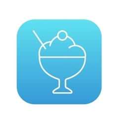 Cup of ice cream line icon vector image