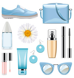 fashion accessories set 3 vector image vector image