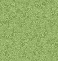 Green seamless curved shape pattern background vector image vector image