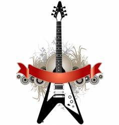 guitar banner background vector image vector image