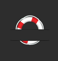 Lifesaver on pocket vector