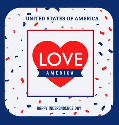 Love america background vector