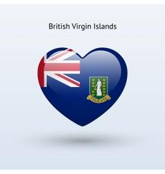 Love british virgin islands symbol heart flag icon vector