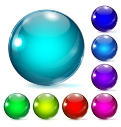 Multicolored glass spheres vector image vector image