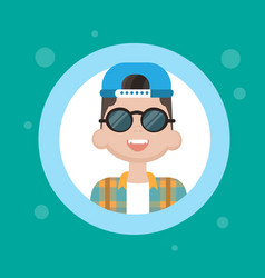 profile icon male avatar man cartoon portrait vector image vector image
