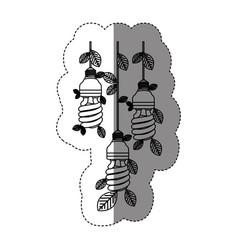 Save bulb hanging eco vector