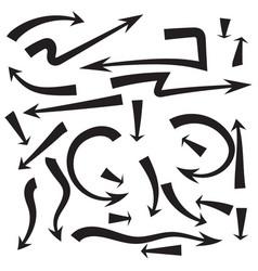 Set of arrows vector