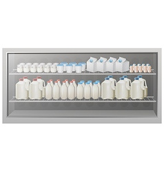 Shelves full of bottles and cups vector image vector image