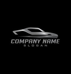 silver car logo vector image vector image