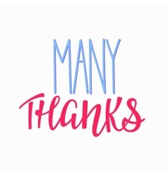 Thank you Family Positive quote lettering vector image vector image