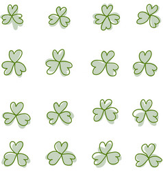 Three and four leaf clover vector image vector image