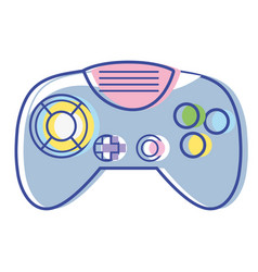 Videogame controller with buttons to play in the vector