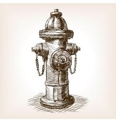 Vintage fire hydrant sketch vector