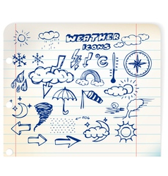 Weather hand drawing vector