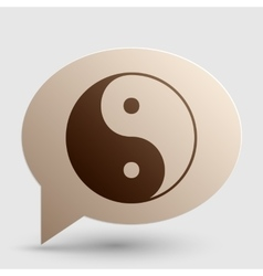 Ying yang symbol of harmony and balance brown vector