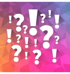 Question and answers symbols vector image