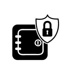 Safe box security isolated icon vector