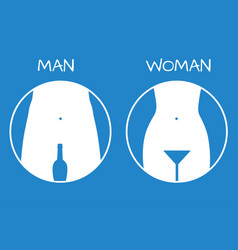 Man and lady toilet sign restroom icon vector