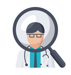 Doctor search icon vector