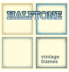 set of halftones background vector image