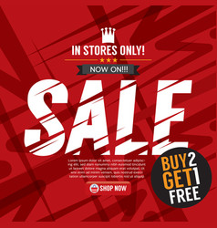 Sale campaign buy 2 get 1 free background banner vector