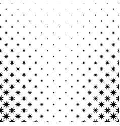 Monochromatic star pattern - background graphic vector