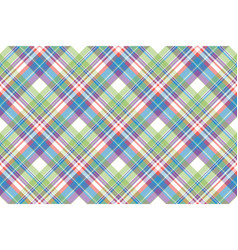 Tartan color plaid fabric seamless pattern vector