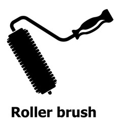 roller brush icon simple black style vector image
