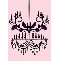 Chandelier sketch vector