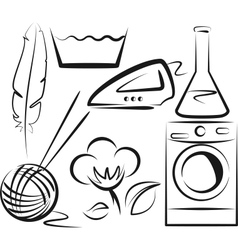 Washing items set vector