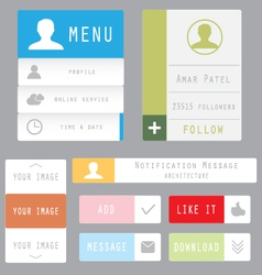 Flat web and mobile design elements vector image