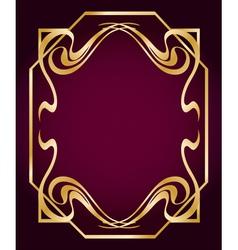Art Deco Style Border vector image