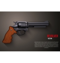 Background of black gun metal revolver vector