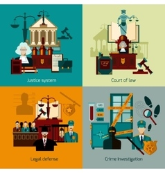 Law flat set vector