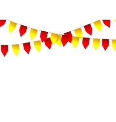 Party colorful flags vector