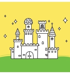 Hand drawn doodle magic castle vector