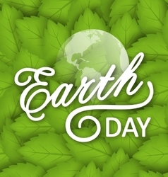 Concept background for earth day holiday vector