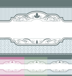 Vintage label banner set vector image