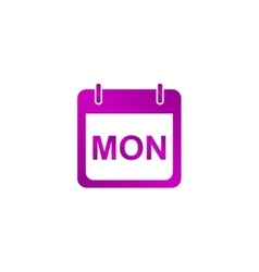 Days of the week modern design flat style icon vector